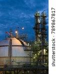 gas storage spheres tank in... | Shutterstock . vector #789867817