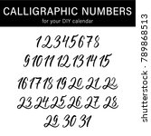 calligraphic numbers for your...   Shutterstock .eps vector #789868513