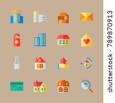 icon set about travel with home ... | Shutterstock .eps vector #789870913