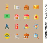 icon set about travel with... | Shutterstock .eps vector #789870973