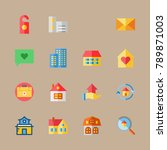 icon set about travel with chat ... | Shutterstock .eps vector #789871003