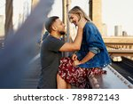 beautiful young man and woman... | Shutterstock . vector #789872143