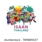 thailand travel with northern... | Shutterstock .eps vector #789885427