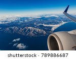 aerial view of airplane wing... | Shutterstock . vector #789886687