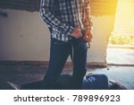 sexual abuse with a terrorist... | Shutterstock . vector #789896923