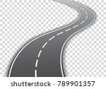vector winding road isolated on ... | Shutterstock .eps vector #789901357