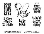 quotes. valentine lettering... | Shutterstock .eps vector #789913363