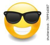 emoji laugh happy sunglasses... | Shutterstock .eps vector #789916087
