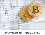 bitcoin coins  cryptocurrency... | Shutterstock . vector #789924763
