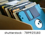 floppy disk outdated technology | Shutterstock . vector #789925183