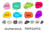 big set of vector flat colorful ... | Shutterstock .eps vector #789926953