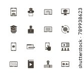 online education icons. perfect ... | Shutterstock .eps vector #789938623