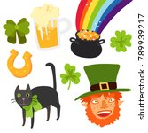 happy st patrick's day... | Shutterstock .eps vector #789939217