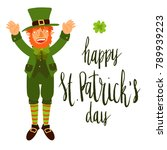 happy st patrick's day... | Shutterstock .eps vector #789939223
