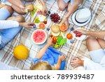 top view summer garden italian...   Shutterstock . vector #789939487
