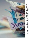 euro money euro banknotes euro... | Shutterstock . vector #789946093