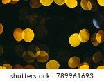 holiday night lights bokeh... | Shutterstock . vector #789961693