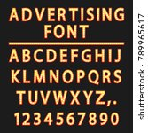 advertising alphabet .vector... | Shutterstock .eps vector #789965617