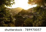 favela at sunset in rio de... | Shutterstock . vector #789970057