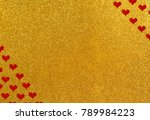 shiny background as valentines... | Shutterstock . vector #789984223