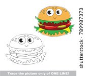 fast food hamburger funny to be ... | Shutterstock .eps vector #789987373