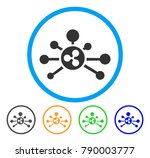ripple links rounded icon.... | Shutterstock .eps vector #790003777