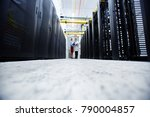 young mining farm staff... | Shutterstock . vector #790004857