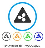 ripple danger rounded icon.... | Shutterstock .eps vector #790006027