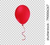 red helium balloon. birthday... | Shutterstock .eps vector #790006267