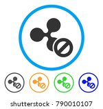 cancel ripple rounded icon.... | Shutterstock .eps vector #790010107