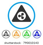 ripple danger rounded icon.... | Shutterstock .eps vector #790010143
