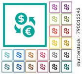 dollar euro money exchange flat ... | Shutterstock .eps vector #790012243