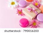 photo of cake macarons  gift... | Shutterstock . vector #790016203