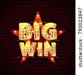 big win casino star frame... | Shutterstock .eps vector #790023847