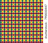 seamless colorful circles grid... | Shutterstock . vector #790033447