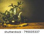 artisan extra virgin olive oil. ...   Shutterstock . vector #790035337