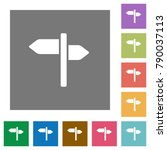 signpost flat icons on simple... | Shutterstock .eps vector #790037113