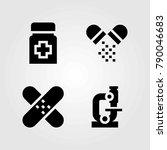 medical vector icons set.... | Shutterstock .eps vector #790046683