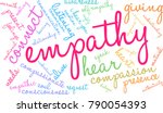 empathy word cloud on a white... | Shutterstock .eps vector #790054393
