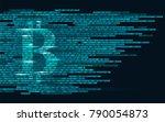 bitcoin digital cryptocurrency... | Shutterstock .eps vector #790054873