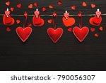 valentine gift making  diy... | Shutterstock . vector #790056307