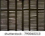 wood shutters wooden texture in ... | Shutterstock . vector #790060213