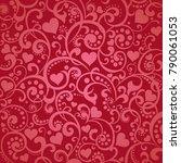 wine color valentine's day... | Shutterstock .eps vector #790061053