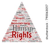 conceptual human rights... | Shutterstock . vector #790063057