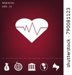 cardiology icon with heart and... | Shutterstock .eps vector #790081123