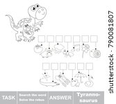 educational puzzle game for...   Shutterstock .eps vector #790081807