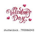 happy valentines day.... | Shutterstock .eps vector #790086043