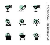 party icons. vector collection...