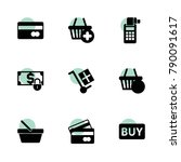 purchase icons. vector... | Shutterstock .eps vector #790091617