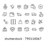 set of delivery related vector... | Shutterstock .eps vector #790110067
